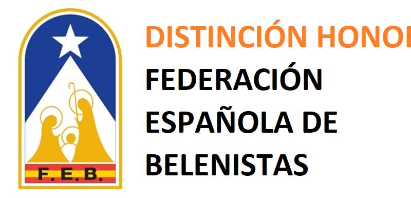 Distinción de Honor Federación Española de Belenistas