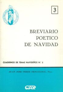 """Portada del Cuaderno de Temas Navideños nº 2, """"Breviario poético de Navidad"""" escrito por Juan José Pérez Ormazábal y editado por la Asociación Belenista de Guipúzcoa (1973)"""