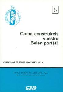 """Portada del Cuaderno de Temas Navideños nº 4, """"Cómo construiréis vuestro Belén portátil"""" escrito por Juan Pérez-Cuadrado y editado por la Asociación Belenista de Guipúzcoa (1974)"""