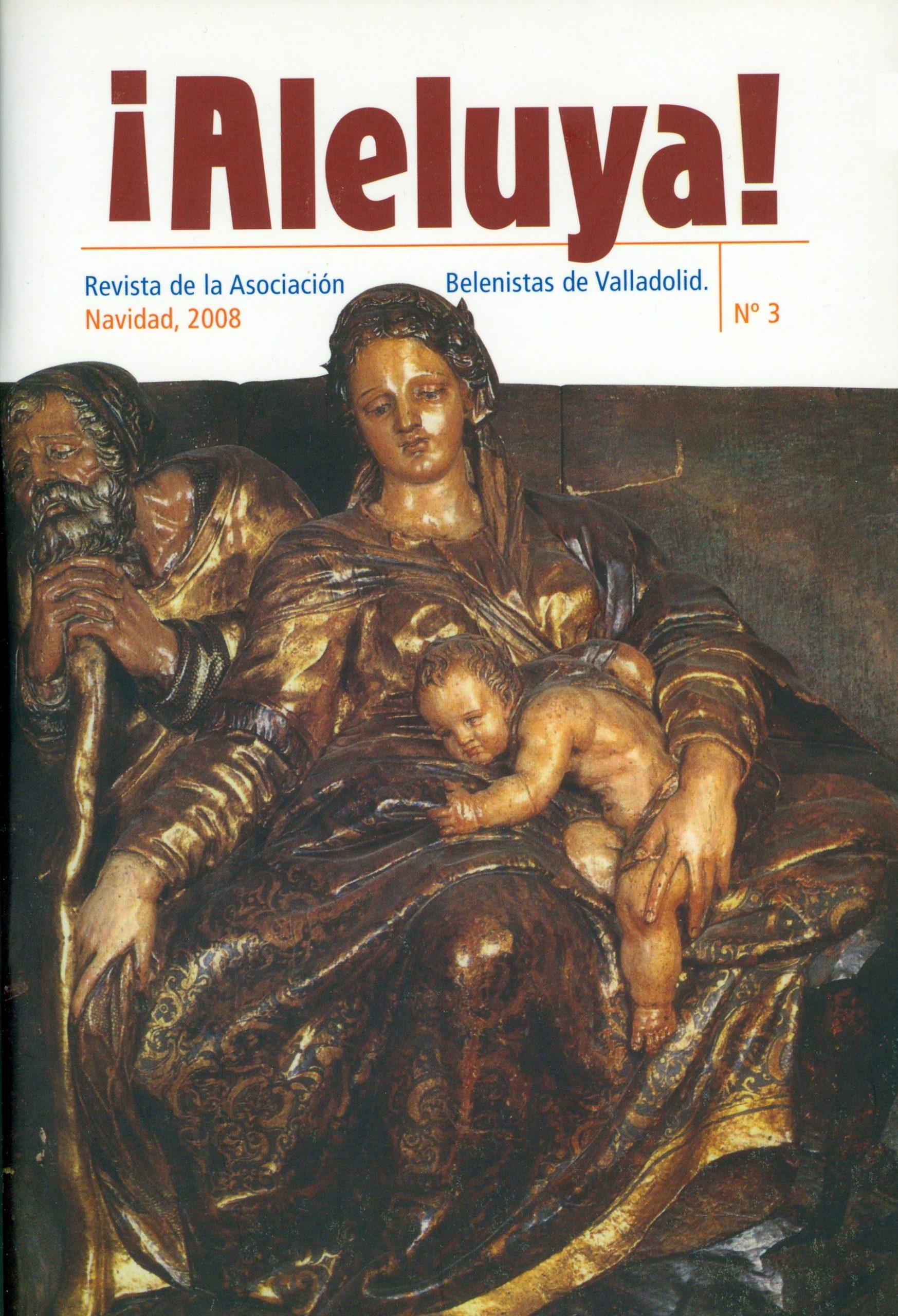 """Portada de la revista ¡Aleluya! nº 3 - Asociación """"Belenistas de Valladolid"""" (2008)"""