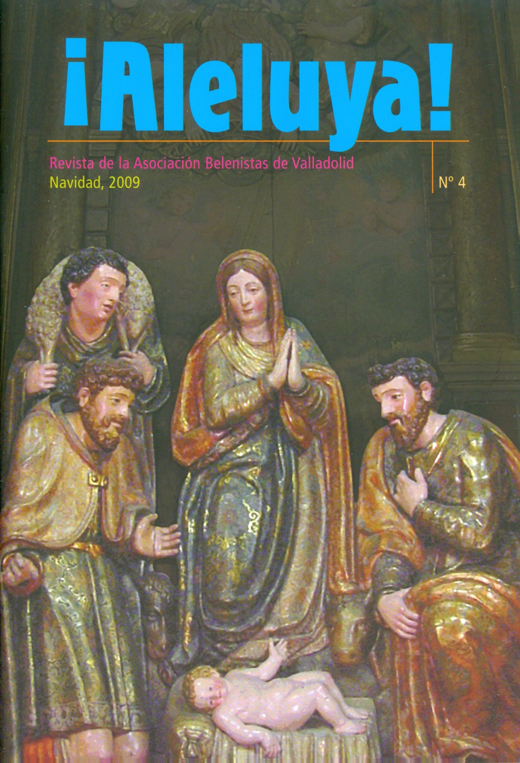 """Portada de la revista ¡Aleluya! nº 4 - Asociación """"Belenistas de Valladolid"""" (2009)"""