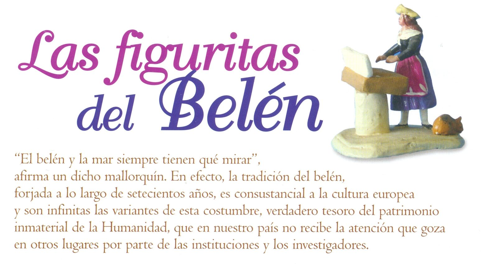 Artículo - Las figuritas del belén, por Letizia Arbeteta Mira