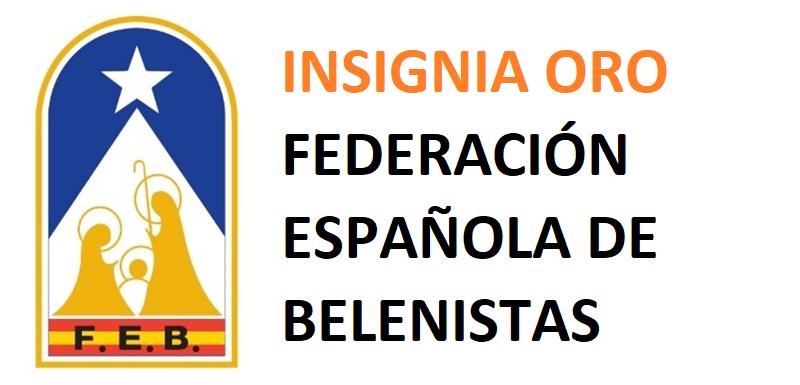 Insignia de Oro Federación Española de Belenistas